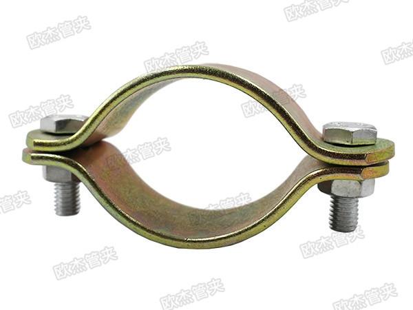 镀彩锌扁钢管夹